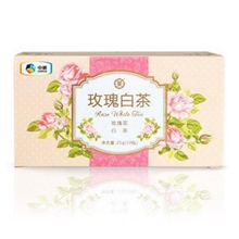 中茶玫瑰白茶25g