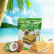 澳洲热带农场椰子椰浆芝麻蛋卷265g