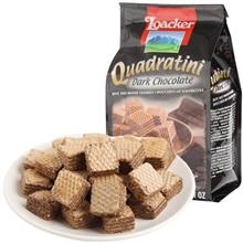 莱家黑巧克力味粒粒装威化饼干 125g