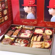 日本 红帽子红色什锦饼干礼盒504.4