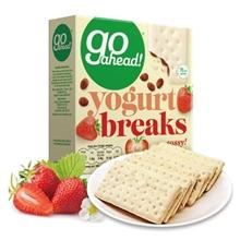 英国 Go ahead果悠萃草莓果干酸奶涂层饼干178g