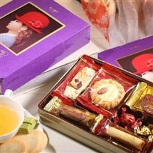 日本 红帽子紫色什锦饼干礼盒95g